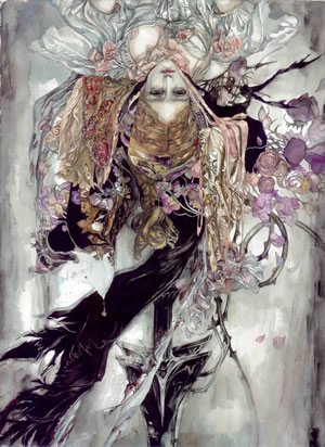 Jingxuan Hu, 2011, Indulge Me, watercolour, 76 x 56cm