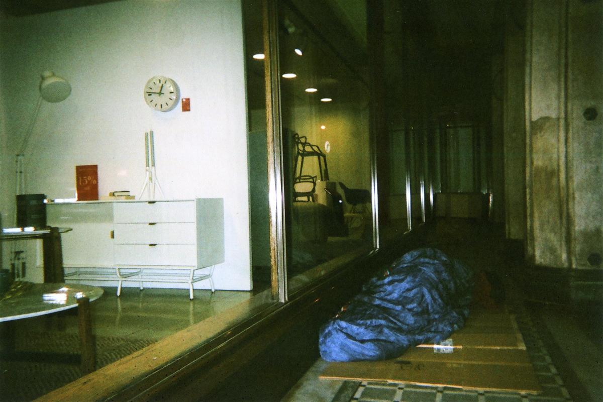 Armadeus Xavier, Sleeping Rough, Tottenham Court Road