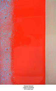 Raymond Yap, Vertical Horizon, 2001, gloss paint on MDF board, 91.5 x 60.5cm